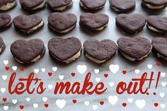 Chocolate Heart Sandwich Cookies // shutterbean