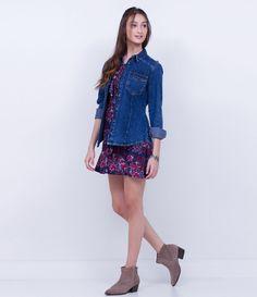Camisa feminina  Manga longa  Com bolsos  Fechamento de botões  Marca: Blue Steel  Tecido: jeans  Composição: 100% algodão  Modelo veste tamanho: P       Medidas da Modelo:     Altura: 1,73  Busto: 78  Cintura: 61  Quadril: 89       COLEÇÃO INVERNO 2016     Veja outras opções de    camisas femininas.