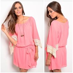"Pink Coral Boho Dress   Pink Coral Boho Dress   It's boho meets romance, soft, stylish & oh so sheek. A must have for summer. ⌛️ Don't Miss Out ⌛️  Fabric Content: 100% POLYESTER Size: S-M-L Size Ratio: Small B: 34"", Med B: 36"", Large B: 38"" L: 34"" x W: 22"" Dresses"
