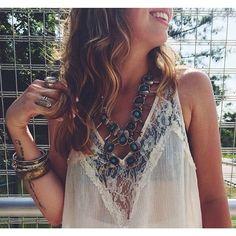 Hippie accessories & lace.