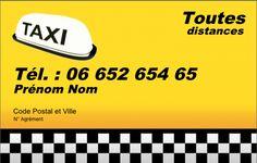 Carte De Visite Taxi Crez Gratuitement Partir Modle En Ligne Votre