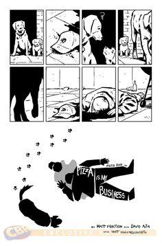 Hawkeye #11. Art by David Aja.