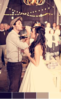 Instead of champagne toast, coke in old fashioned bottles, or a classic drink you two love. just in case i get married before i turn good idea :D Wedding Wishes, Wedding Bells, Wedding Events, Our Wedding, Dream Wedding, Weddings, Fall Wedding, Rustic Wedding, Wedding Scene