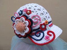 çiçekli örgü şapka modelleri Horgolt Babasapkák 18e7e573d3