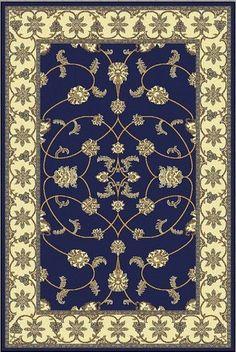 "6' x 9' Area Rug Dark Blue Traditional Persian (6'5""x 9'2""Actual) DESIGNER RUGS http://www.amazon.com/dp/B007YY6D7O/ref=cm_sw_r_pi_dp_4xMPwb1HAKD90"