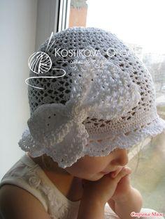 Белоснежная шапочка (со схемками) и много авторских украшений к ней - Вязание - Страна Мам
