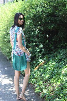 #floral romper // #mirrored sunnies // #hermes evelyne