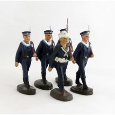 Vintage Navy Marine Sailor Soldier Cadet Collection 5 x Elastolin Toy... (€111) ❤ liked on Polyvore featuring toy