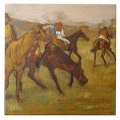 Vintage Edgar Degas Before the Race Ceramic Tile - home gifts ideas decor special unique custom individual customized individualized