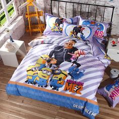 Despicable Me 3 Minions Blue Comforter US Twin