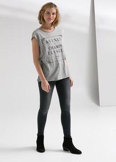 Camiseta mensaje - Mujer   OUTLET
