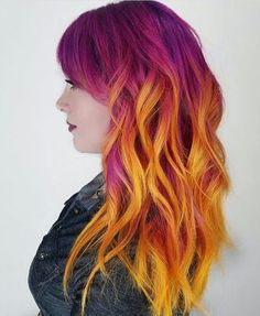 Purple and orange hair