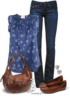 Cute Pintuck Blouse Spring Outfit