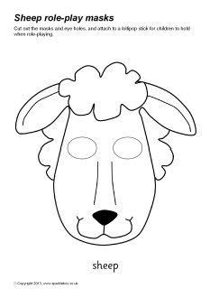 Sheep Role Play Masks SB9109