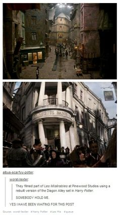 Harry Potter and Les Miserables <- Seriously?! =O Wow. I haven't seen Les Mis, but I know Eddie Redmayne was in it - and now he will be playing Newt in 'Fantastic Beasts'!!! Yet more fandom connections XD