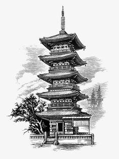 Stock Photography Of Building, Structure, Building Exterior, Asian - - jpeg Japan Tattoo Design, Japanese Tattoo Designs, Japanese Tattoo Art, Japanese Sleeve Tattoos, Japanese Art, Japanese Temple Tattoo, Samurai Warrior Tattoo, Art Vampire, Samurai Artwork