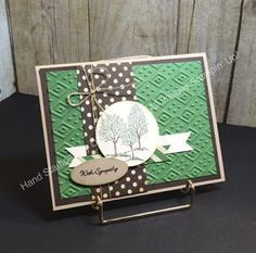 Stampin' Fun with Diana: SSI Sympathy Meets Hand Stamped Sentiments Sketch Challenge: Lovely as a Tree