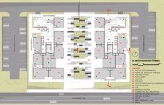 Imagem 8 de 14 da galeria de 3º Lugar no concurso CODHAB-DF para edifícios de uso misto em Santa Maria/DF. Planta Baixa - Térreo. Image Cortesia de AGA – Alexandre Gonçalves Arquitetura