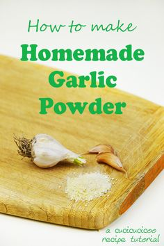 How to make homemade garlic powder: a super simple recipe by www ...