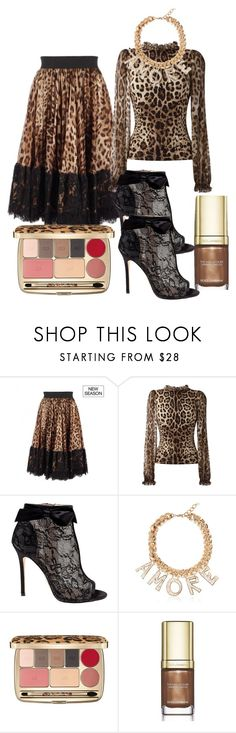 """""""Dolce&Gabbana leopard"""" by subvilli ❤ liked on Polyvore featuring Dolce&Gabbana, Belle by Badgley Mischka, leopard, dolceandgabbana, polyvoreeditorial and polyvorefashion"""