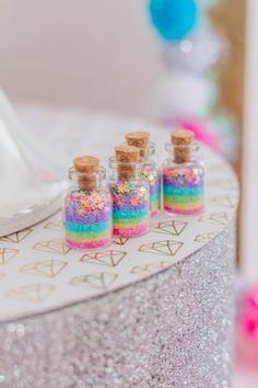 These are the medium sized Unicorn jars available for purchase. These Unicorn jars can be cherished by young and old. Filled with pastel rainbow glitter, then topped with stars. These make a fun gift, party favor, stocking stuffer or anytime. I can make any of my jars in my shop into a necklace. Perfect for a Unicorn Party!  Please see all pictures to know the size, these are the size B in the second picture.  ***I now have The pastel stars, and silver iridescent, If you would prefer one or…