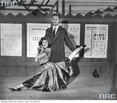 A scene from the revue Zjazd Centrośmiechu at the Qui Pro Quo cabaret in Warsaw, pictured: Adolf Dymsza & his wife Zofia Olechnowicz, photo: www. Warsaw, Soundtrack, Poland, Culture, Unique, Fictional Characters, Historia, Cinema, Fantasy Characters