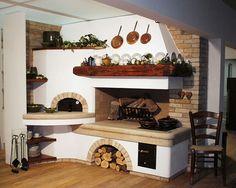 Italian Style Home, Old World Kitchens, Pizza Oven Outdoor, Mediterranean Style Homes, Kitchen Stove, Cottage Kitchens, Outdoor Kitchen Design, Wooden Kitchen, Four
