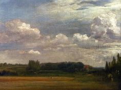 View Towards The Rectory From East Bergholt House, 1813  John Constable