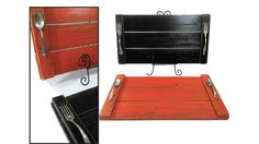 Reclaimed Wood Trays Set of Two Food Serving by AlleyCatDesignSt