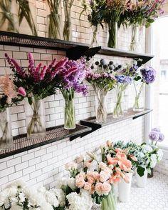 Wall of flower bouquet My Flower, Pretty Flowers, Fresh Flowers, Flower Wall, Spring Flowers, Cactus Flower, Exotic Flowers, Purple Flowers, Wall Flowers