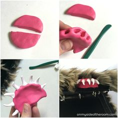 Harry Potter Costume Harry-Potter-Monster-Book-of-Monsters-Tutorial-Teeth - Learn how to make your own Monster Book of Monsters found in the third Harry Potter Book. Step by step instructions to show you how to make this fun book! Harry Potter Fiesta, Gateau Harry Potter, Cumpleaños Harry Potter, Harry Potter Bedroom, Harry Potter Cosplay, Harry Potter Jewelry, Harry Potter Halloween, Harry Potter Christmas, Harry Potter Birthday