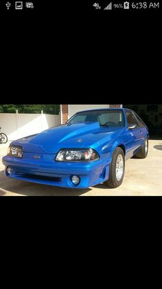 Blue Mustang, Ford Mustang Gt, Mustangs, Fox, Tools, Muscle Cars, Instruments, Mustang, Foxes