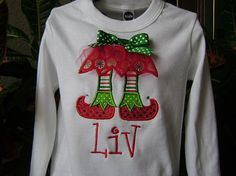 Christmas Elf Shirt! Can't wait to make this shirt for my girls! :)