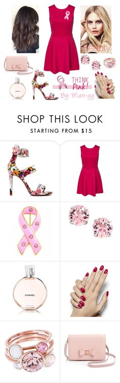 """What a good Pink October!"" by mari-gg ❤ liked on Polyvore featuring Bling Jewelry, L. Erickson, Burberry, Ted Baker, thinkpink and pinkoctober"