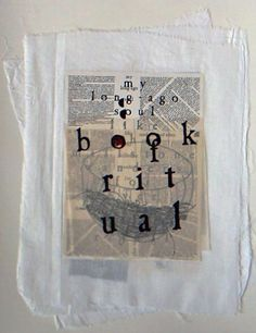 Book of ritual, digital print, wax, paper, cotton, 35x44, 2001 by Eva francova