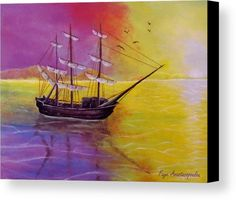 Sunset Sail Wood Print by Faye Anastasopoulou. All wood prints are professionally printed, packaged, and shipped within 3 - 4 business days and delivered ready-to-hang on your wall. Wall Art Prints, Canvas Prints, Fine Art Posters, Visual And Performing Arts, Theme Pictures, Artwork Images, Picture Design, Picture Ideas, Realism Art