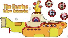 The Beatles Yellow Submarine – Kit Completo com molduras para convites, rótulos para guloseimas, lembrancinhas e imagens! |Fazendo a Nossa Festa