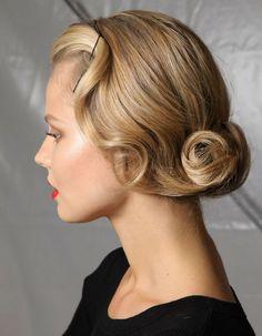 coiffure pour reveillon cheveux mi longs coiffures retro coiffures vintage cheveux courts coiffure