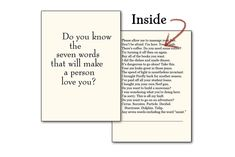 Seven Words Greeting Card