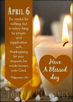 Pillar Candles, Candle Jars, Be Careful For Nothing, Prayers, Blessed, Thanksgiving, Let It Be, Day, Thanksgiving Tree