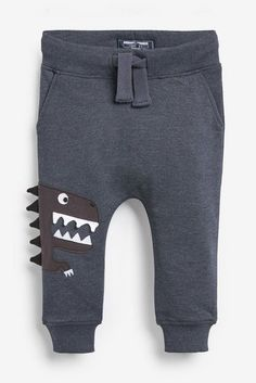 Buy Dino Appliqué Joggers from the Next UK online shop Toddler Boys, Kids Girls, Baby Boy Outfits, Kids Outfits, Boys School Shoes, Boys Casual Shoes, Boys Clothes Style, Clothes Pictures, Boys Pants