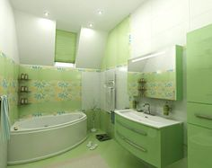 12 Green Bathroom Ideas For Natural Refreshing - Top Inspirations