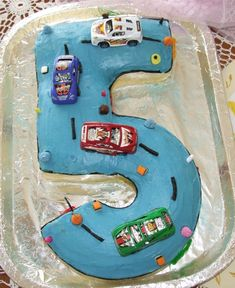 boys birthday cakes | Number 5 Cake for Boys Birthday Parties | Kids Birthday Party Ideas