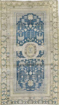 "ANTIQUE SAMARKAND Origin: EAST TURKESTAN Size: 6' 1"" x 11' 1"" Rug ID # 835"
