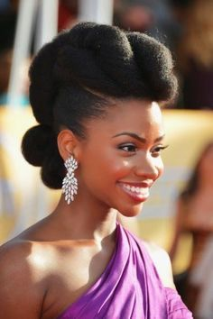 Natural Hairstyles For Work Chic Professional Woman Work Outfitsimple Natural Updo Httpsww