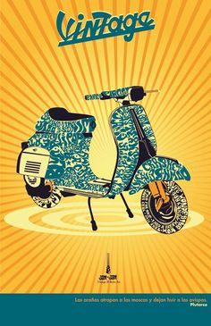 vespa Vespa Ape, Lambretta Scooter, Vespa Scooters, Vespa Motorcycle, Vespa Vintage, Motos Vintage, Vintage Italy, Illustration Vespa, Graphic Art