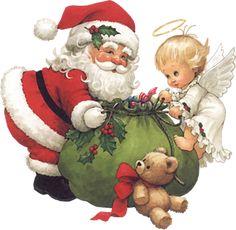 Cute Little Angel with Santa