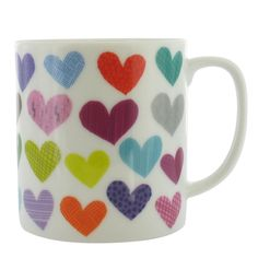 Valentine's Day!  Multi torn heart mug in box from Paperchase