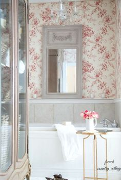 Can a bathroom be charming? I say yes. The bathroom.  It can be one of the most overlooked rooms in the house from a decorating standpoint.  In our home, the bathroom decor is an extension of the rest...
