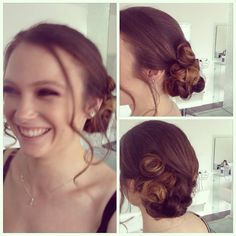 Side bun with pincurls